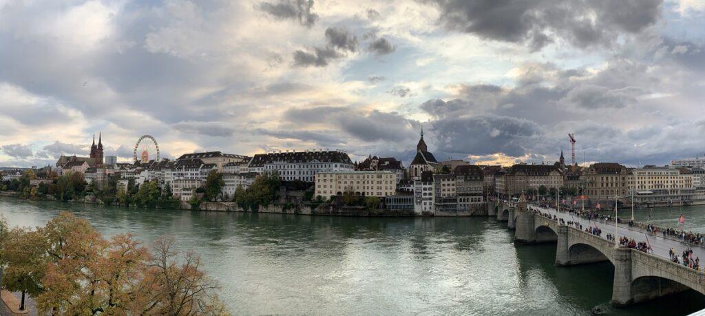 The Rhine River in Basel, Switzerland.