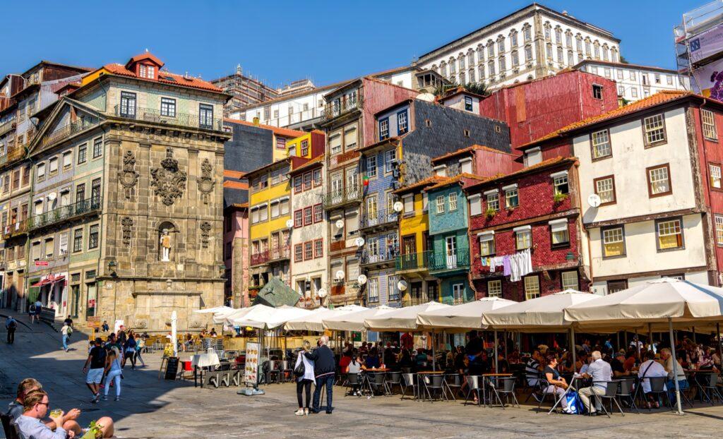 The Ribiera neighborhood of Porto, Portugal.