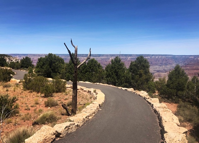 The Rim Trail at the Grand Canyon.