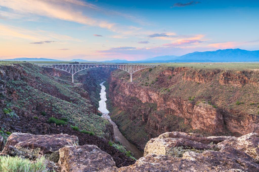 The Rio Grande Gorge Bridge in Taos.
