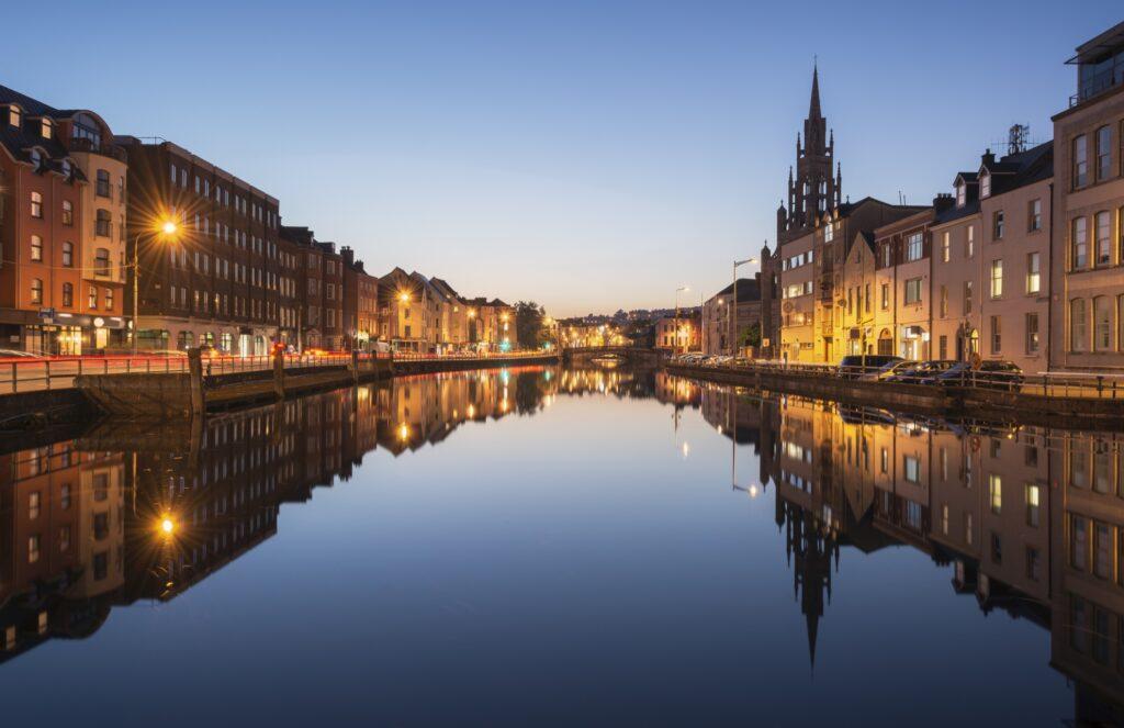 The River Lee in Cork, Ireland.