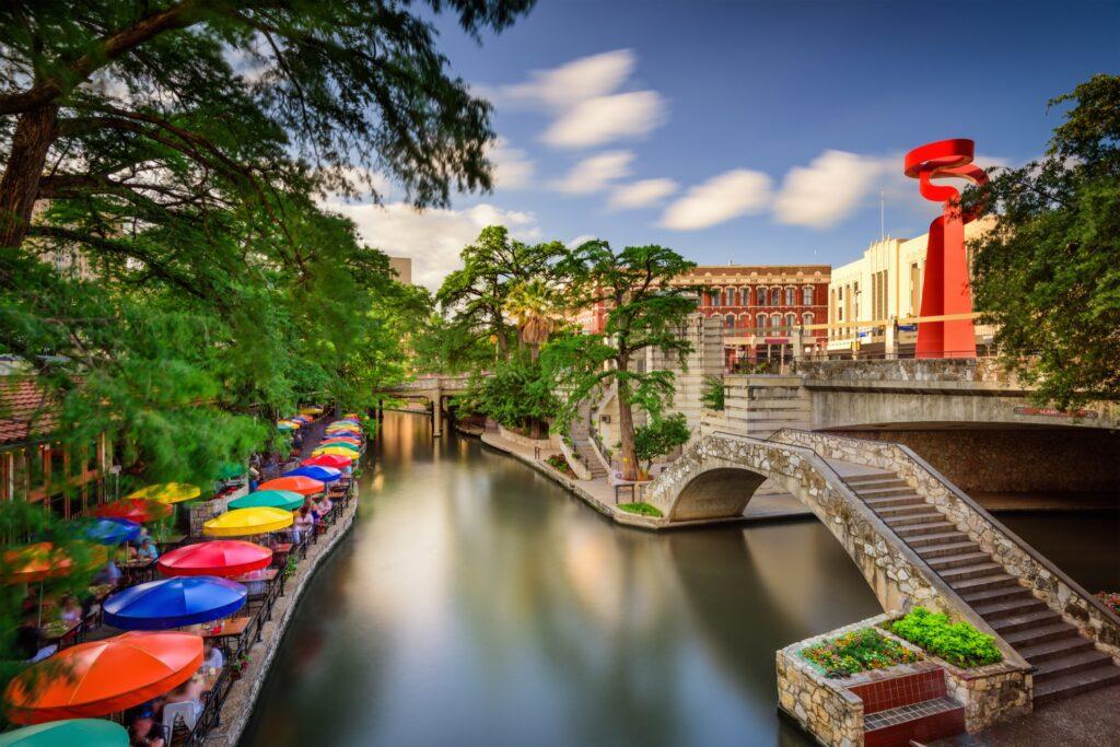 The River Walk in San Antonio, Texas.