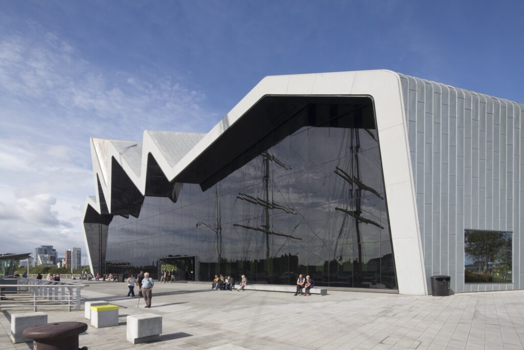 The Riverside Museum in Glasgow.