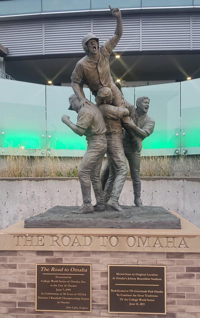 The Road to Omaha sculpture in Nebraska.