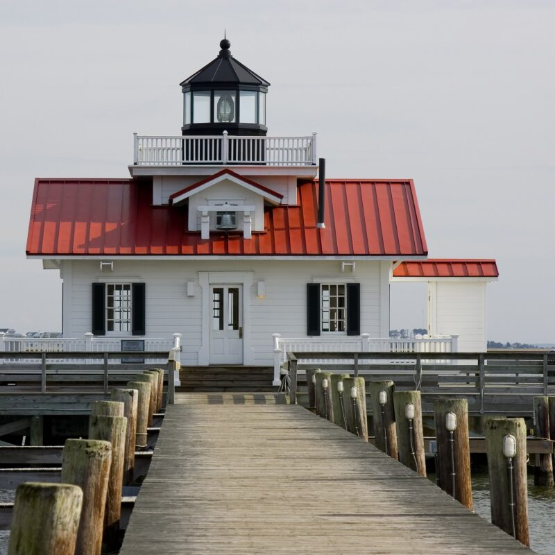 The Roanoke Marshes Lighthouse in North Carolina.