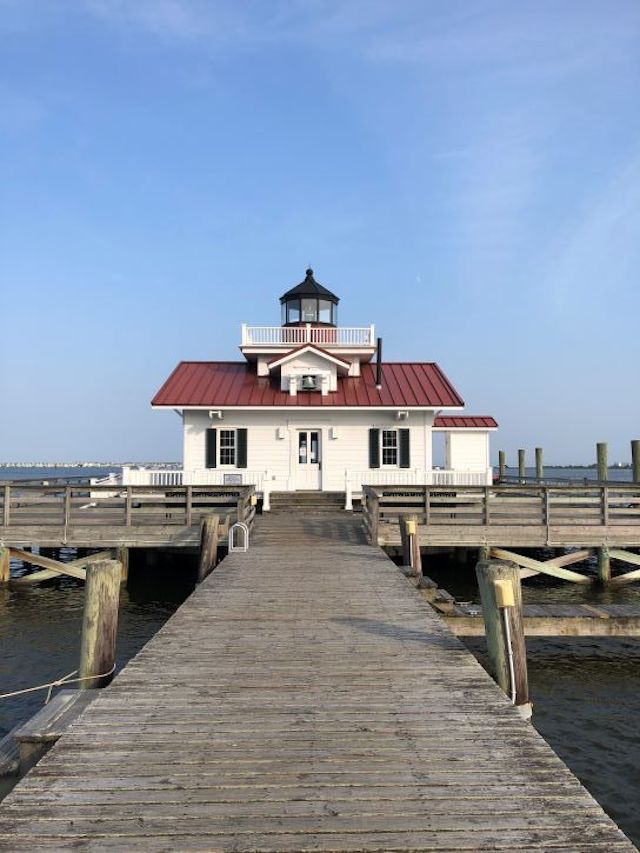 The Roanoke Marshes Lighthouse in North Carolina.
