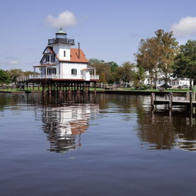 The Roanoke River Lighthouse in Edenton, North Carolina.