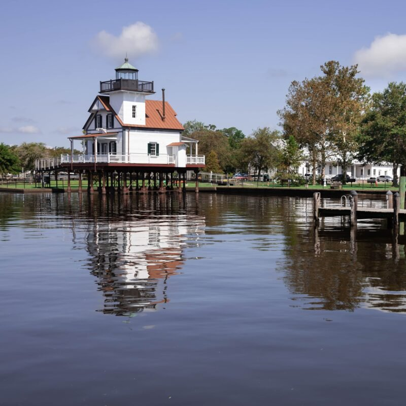 The Roanoke River Lighthouse in Edenton, North Carolina.