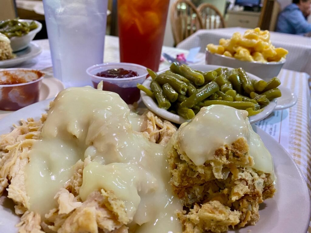 The roast turkey meal from Yoder's in Sarasota, Florida.