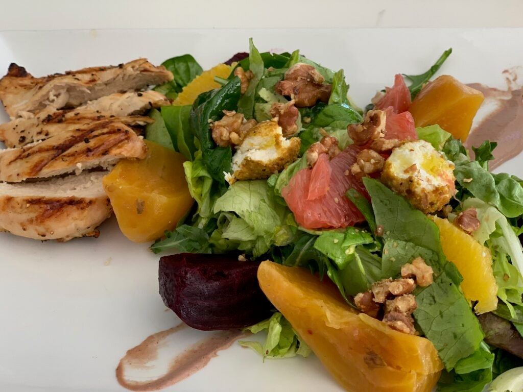 The Roasted Red and Golden Beet Salad from Shore Diner.