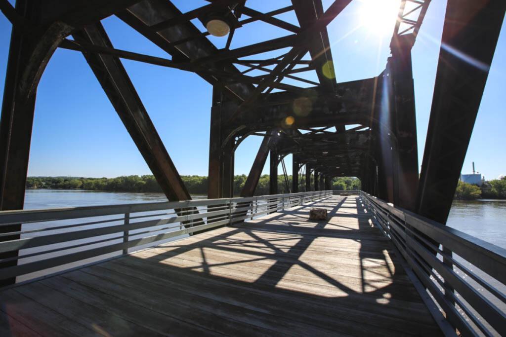 The Rock Island Swing Bridge in Inver Grove Heights.