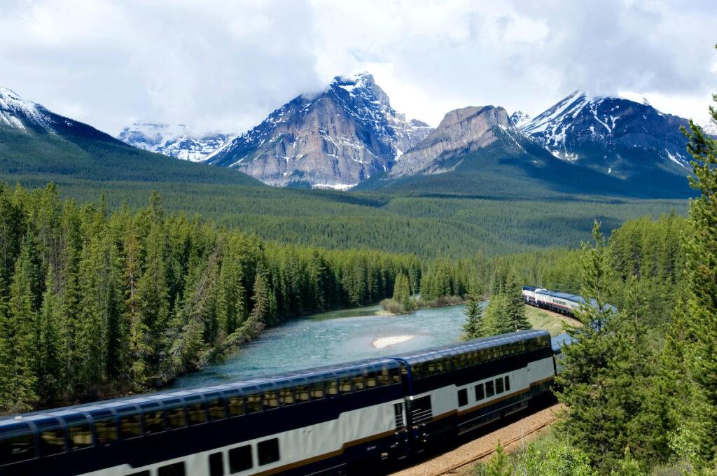 The Rocky Mountaineer train.