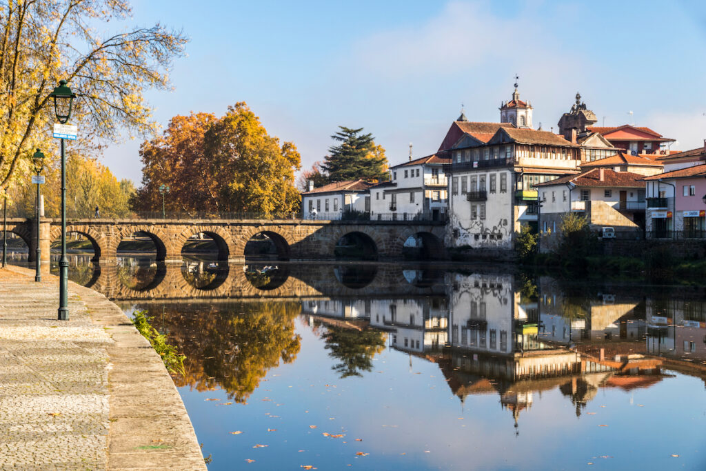 The Roman bridge in Chaves, Portugal.
