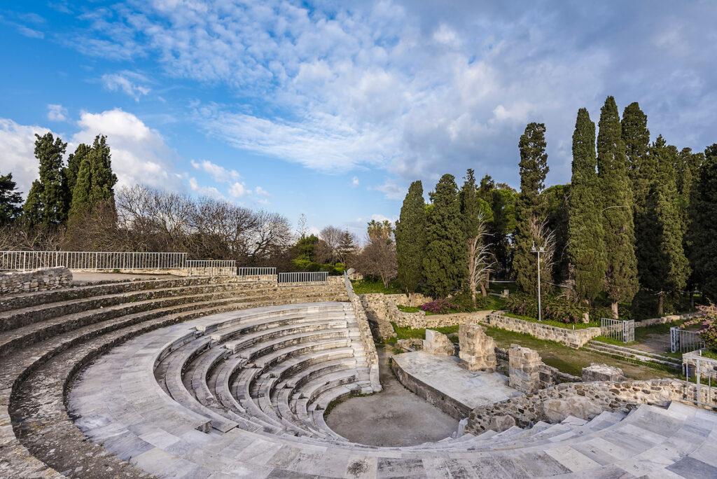 The Roman Odeon in Kos, Greece.