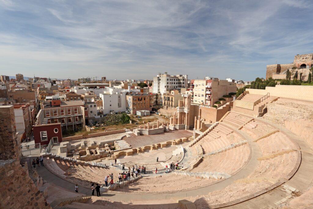 The Roman Theater in Cartagena.