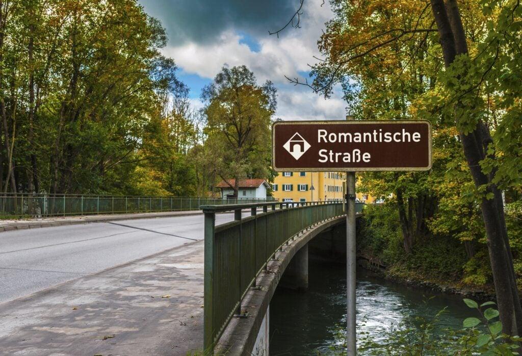 The Romantic Road through Germany.