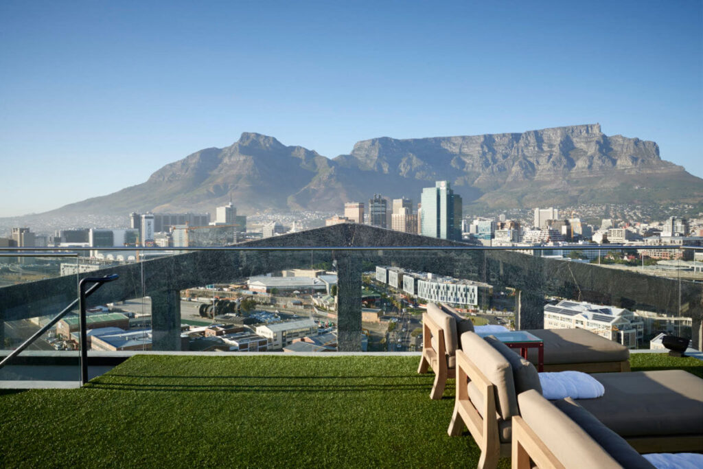 The rooftop bar at The Silo in Cape Town.