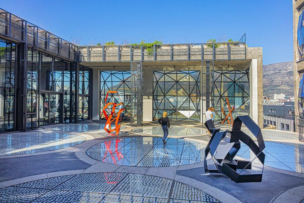 The rooftop sculpture garden at the Zeitz Mocaa Museum.