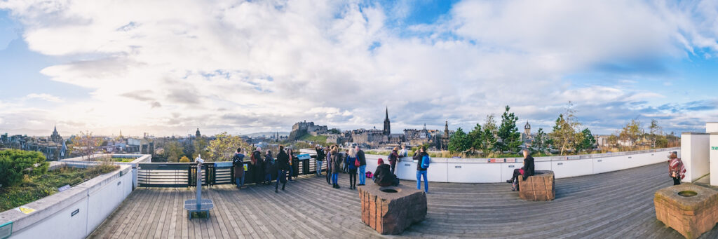 the rooftop terrace of the National Museum of Scotland