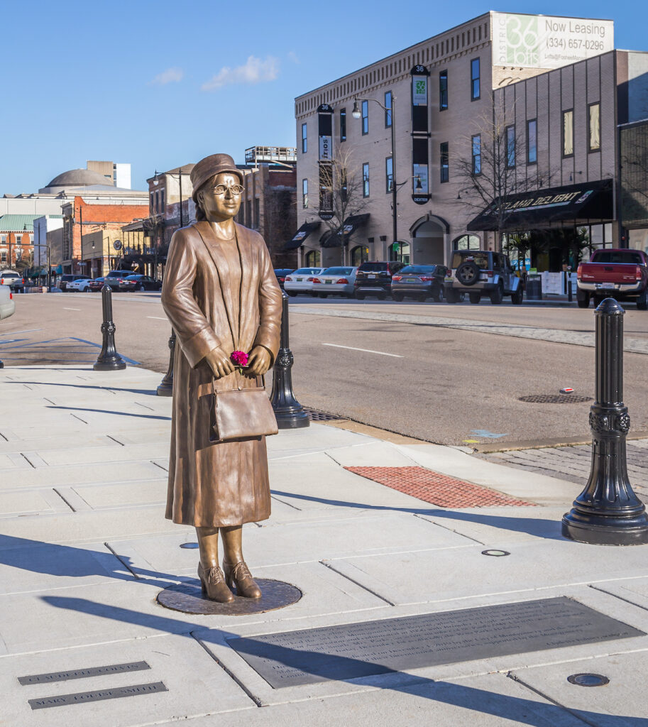 The Rosa Parks statue in Montgomery, Alabama.