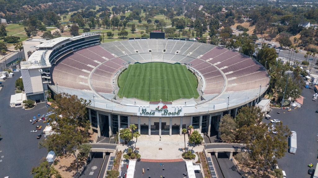 The Rose Bowl in Pasadena, California.