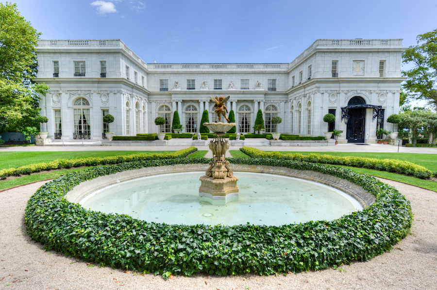 The Rosecliff mansion in Newport, Rhode Island.