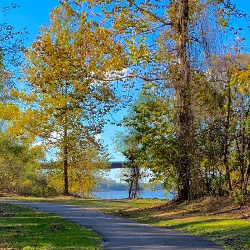 The Rotary Riverfront Trail in Washington, Missouri.