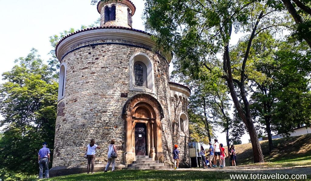 The rotunda at Vysehrad in Prague.
