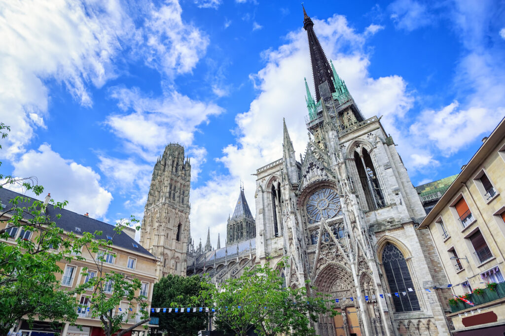 The Rouen Cathedral in France.