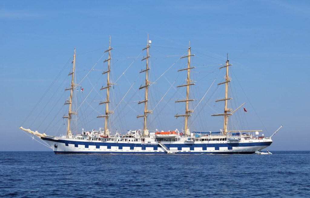 The Royal Clipper, the largest luxury clipper in the world.