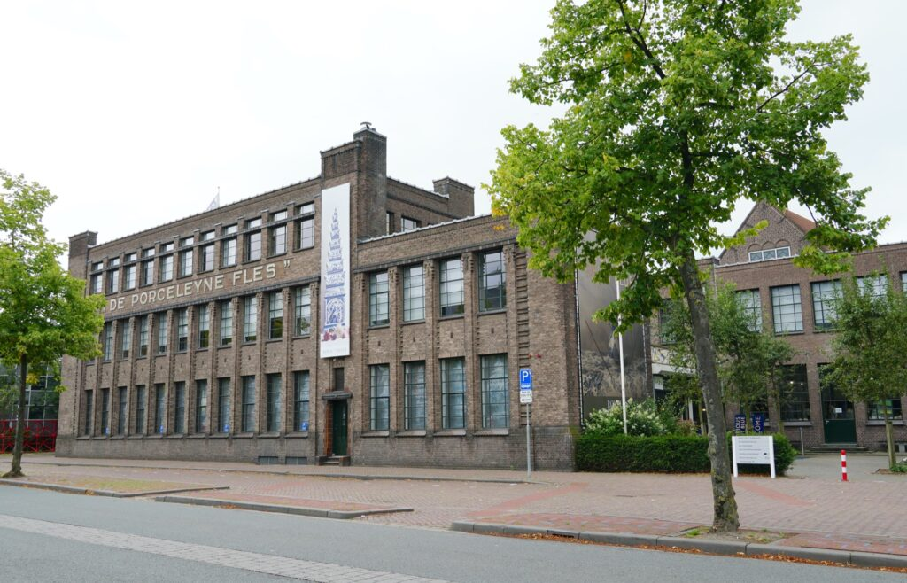 The Royal Delftware Museum and Factory in Delft.