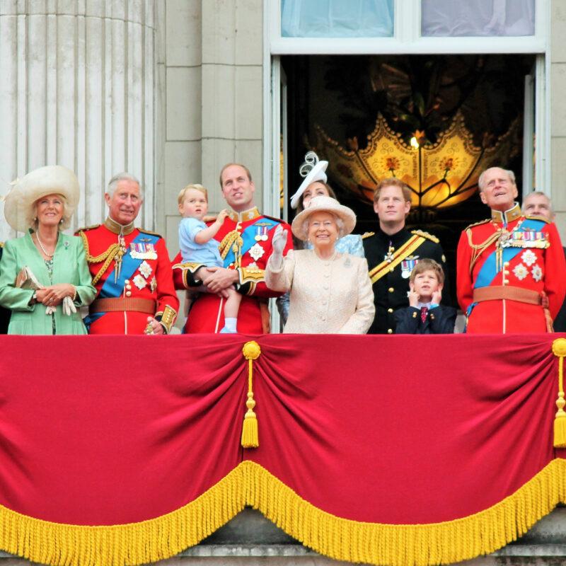 The Royal Family at Buckingham Palace.
