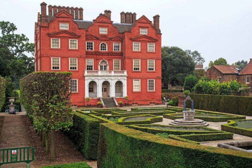The royal gardens of Kew Palace.