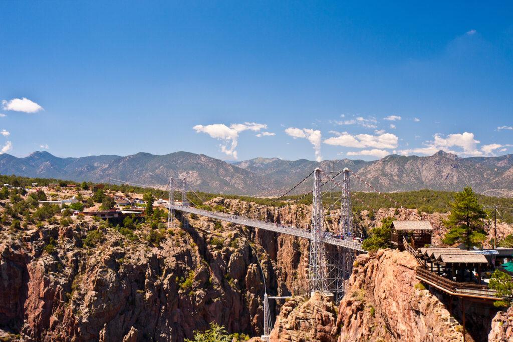 The Royal Gorge Bridge in Colorado.
