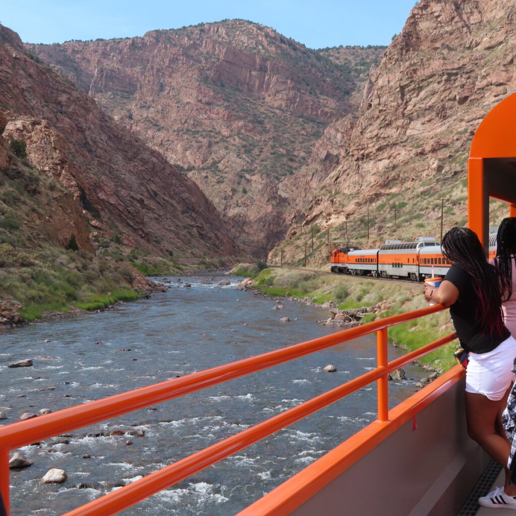 The Royal Gorge Route Railroad in Colorado.