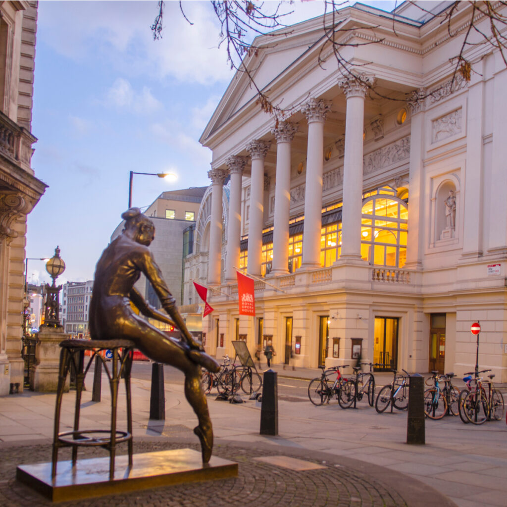 The Royal Opera House in London.