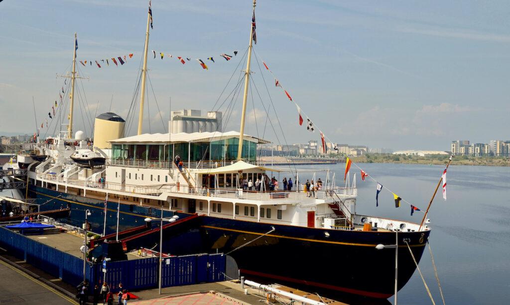 The Royal yacht Britannia in Edinburgh, Scotland.