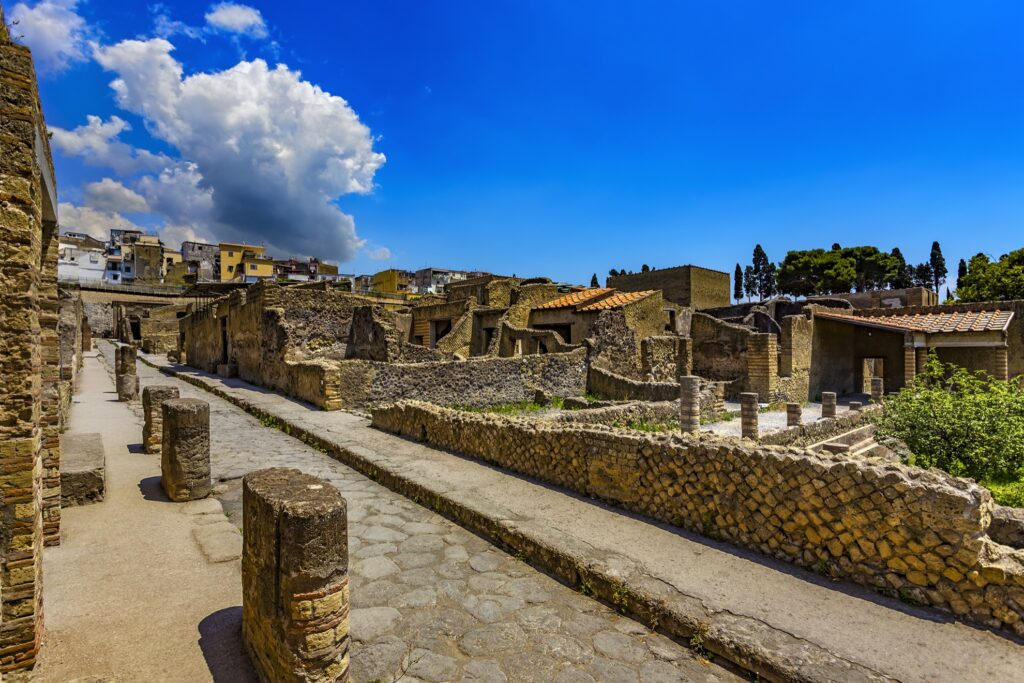 The ruins at Herculaneum.