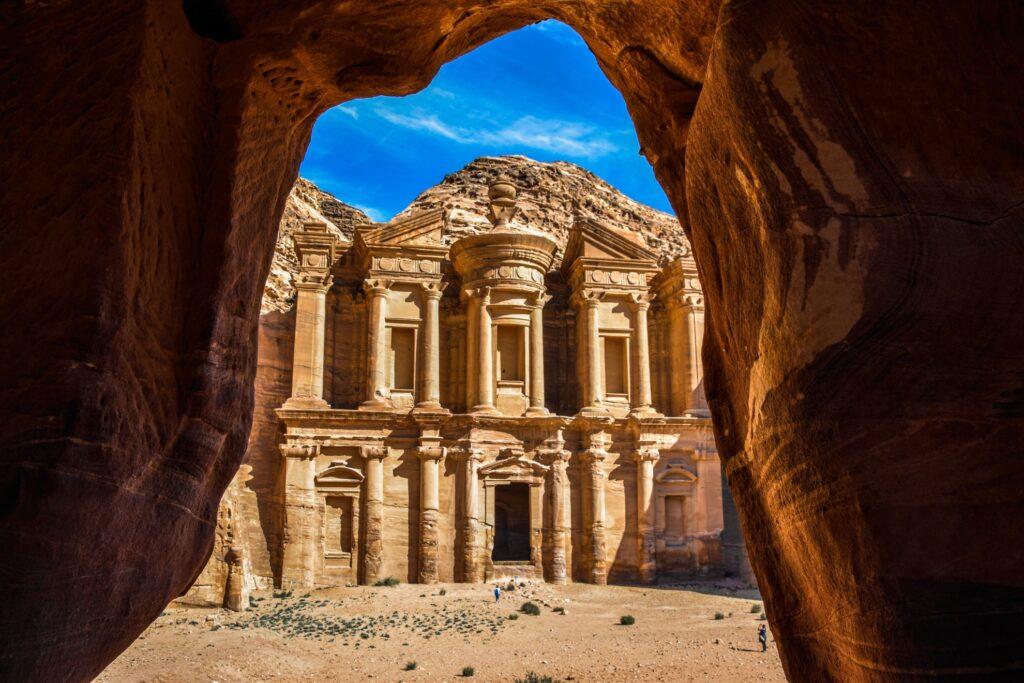 The ruins at Petra, Jordan.