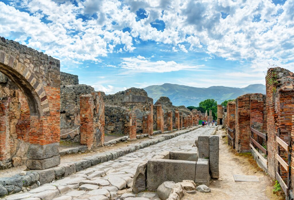 The ruins at Pompeii.