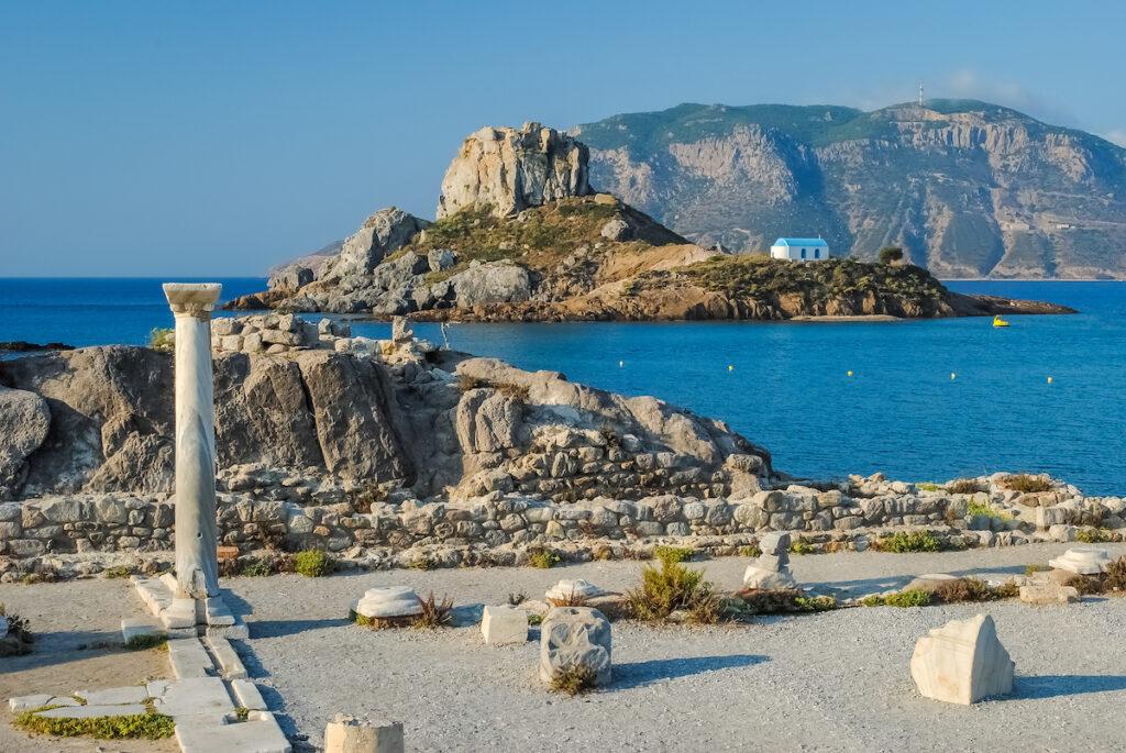 The ruins of Agios Stefanos on Kos, Greece.