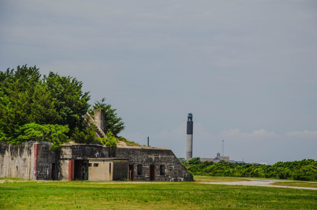 The ruins of Fort Caswell in North Carolina.