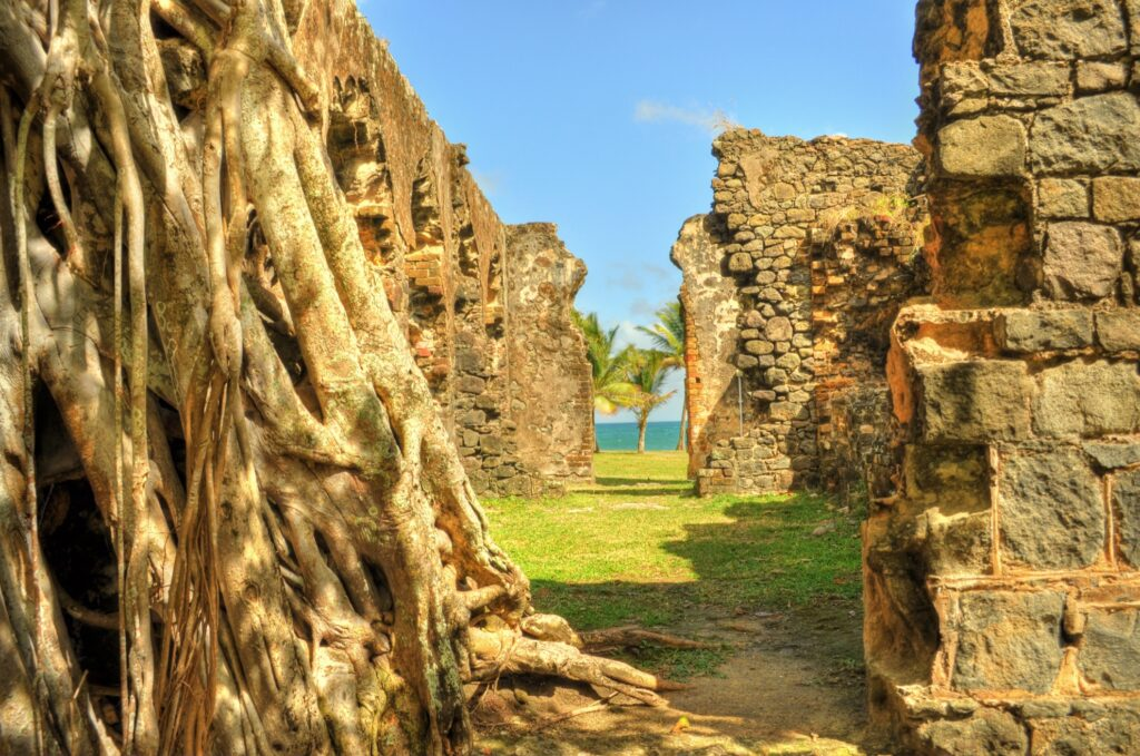 The ruins of Fort Rodney on Pigeon Island.
