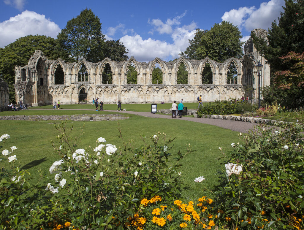 The ruins of Saint Mary's Abbey in York.