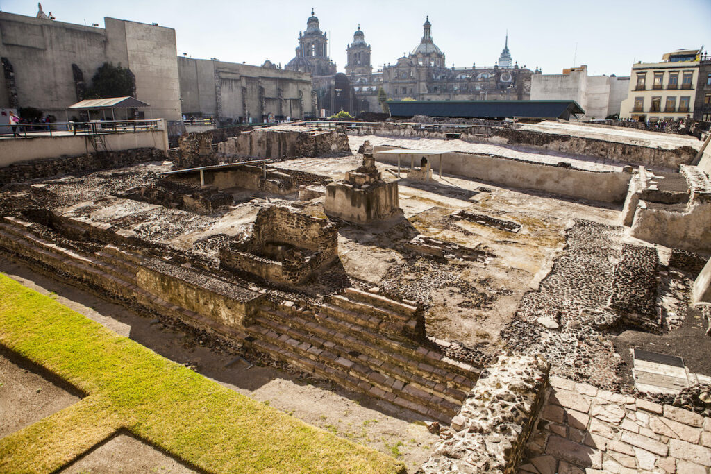 The ruins of Templo Mayor in Mexico City.