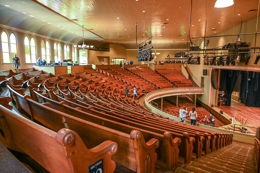 The Ryman Auditorium in Nashville, Tennessee.