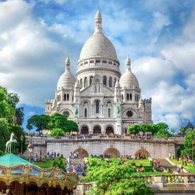 The Sacre-Coeur Basilica in Montmartre.