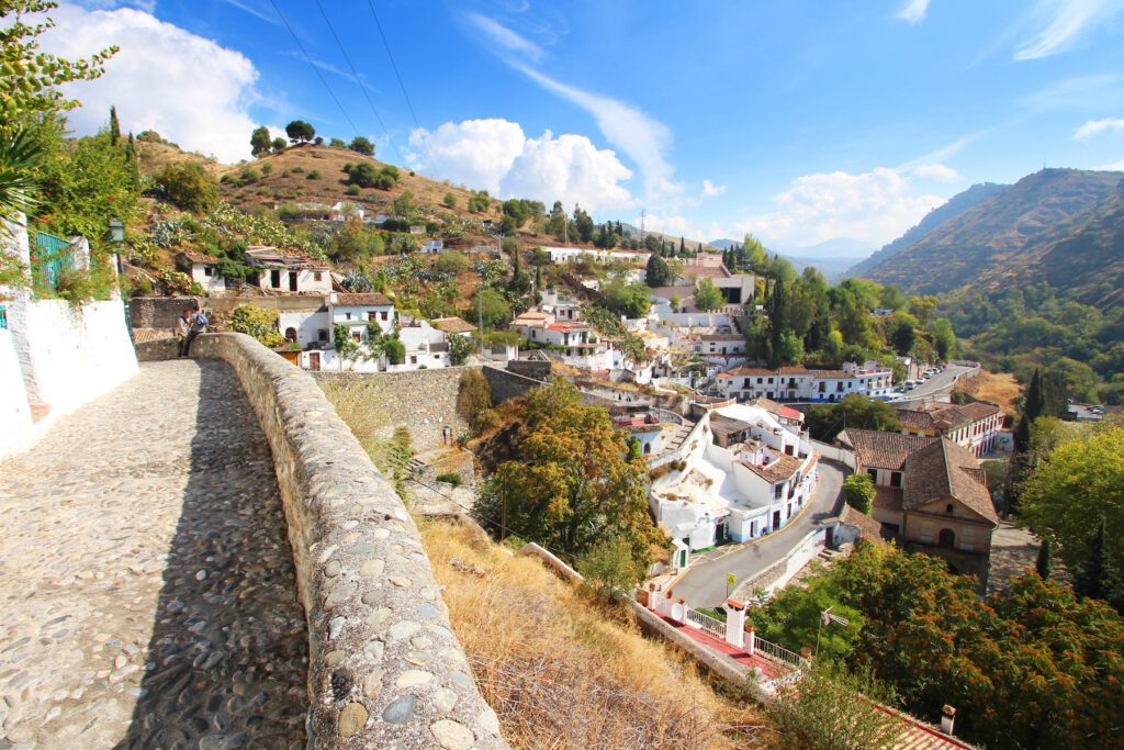 The Sacromonte district in Granada, Spain.