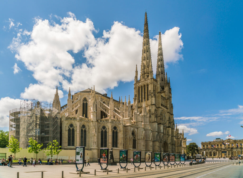 The Saint-Andre Cathedral in Bordeaux.