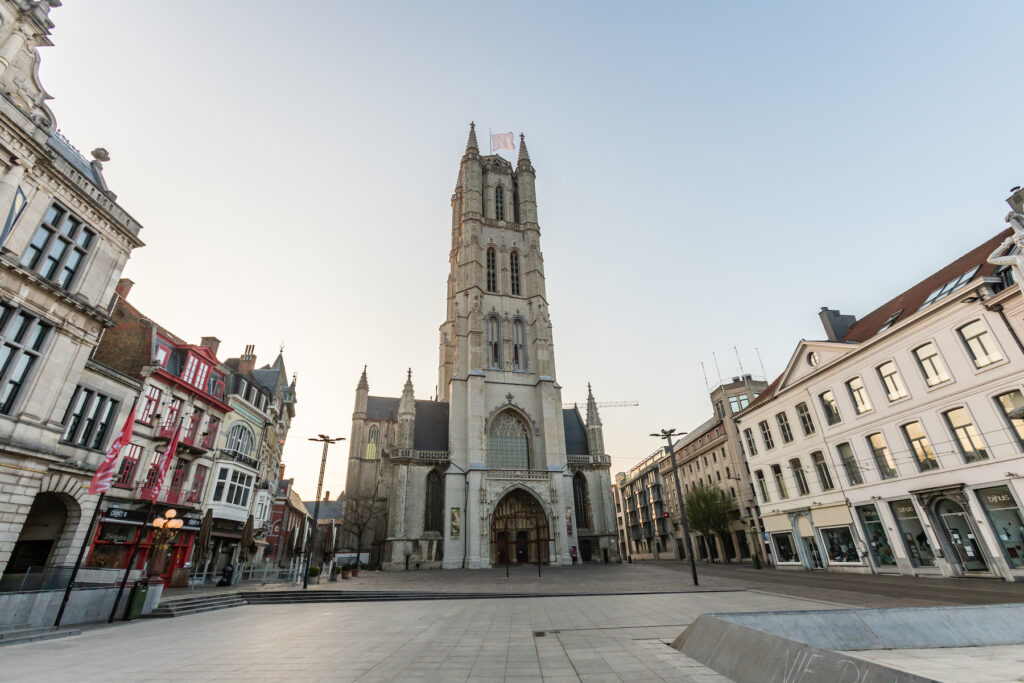The Saint Bravo Cathedral in Ghent.